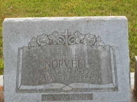 NORVELL, BUELAH M. - Boone County, Arkansas   BUELAH M. NORVELL - Arkansas Gravestone Photos