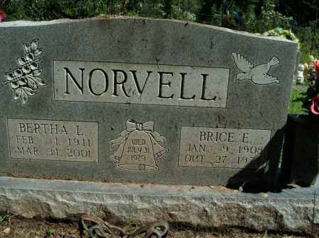 NORVELL, BRICE EURAL - Boone County, Arkansas | BRICE EURAL NORVELL - Arkansas Gravestone Photos
