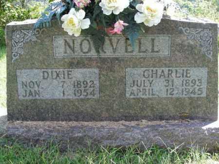 NORVELL, CHARLIE - Boone County, Arkansas | CHARLIE NORVELL - Arkansas Gravestone Photos