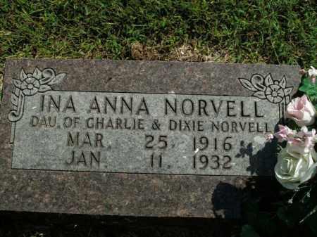 NORVELL, INA ANNA - Boone County, Arkansas | INA ANNA NORVELL - Arkansas Gravestone Photos