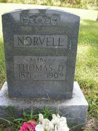 NORVELL, THOMAS D. - Boone County, Arkansas | THOMAS D. NORVELL - Arkansas Gravestone Photos