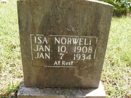NORWELL, ISA - Boone County, Arkansas   ISA NORWELL - Arkansas Gravestone Photos