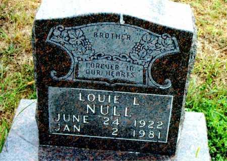 NULL, LOUIE L - Boone County, Arkansas | LOUIE L NULL - Arkansas Gravestone Photos