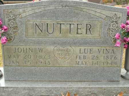 NUTTER, JOHN W. - Boone County, Arkansas | JOHN W. NUTTER - Arkansas Gravestone Photos