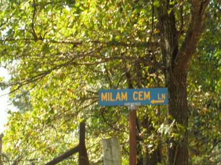 *OLD MILAM CEMETERY SIGN,  - Boone County, Arkansas |  *OLD MILAM CEMETERY SIGN - Arkansas Gravestone Photos