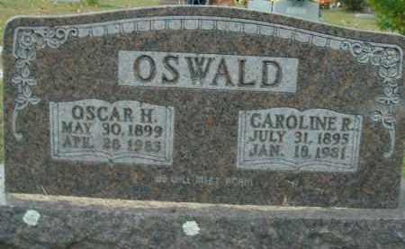 OSWALD, CAROLINE R. - Boone County, Arkansas | CAROLINE R. OSWALD - Arkansas Gravestone Photos