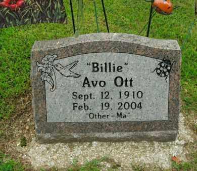 OTT, BILLIE AVO - Boone County, Arkansas   BILLIE AVO OTT - Arkansas Gravestone Photos