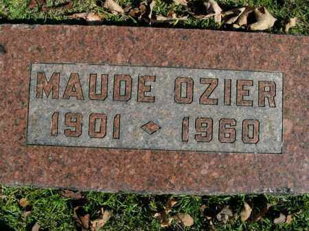 OZIER, MAUDE - Boone County, Arkansas | MAUDE OZIER - Arkansas Gravestone Photos