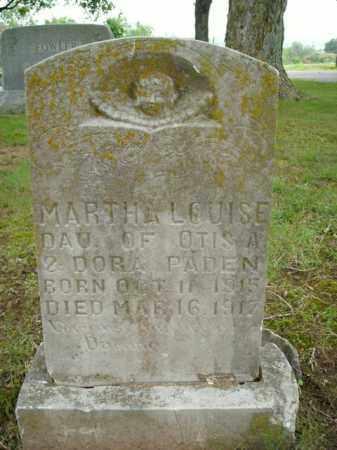 PADEN, MARTHA LOUISE - Boone County, Arkansas | MARTHA LOUISE PADEN - Arkansas Gravestone Photos