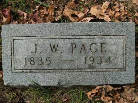 PAGE, JAMES W. - Boone County, Arkansas | JAMES W. PAGE - Arkansas Gravestone Photos