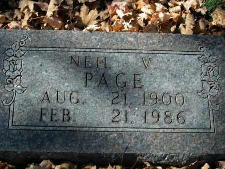PAGE, NEIL VARRA - Boone County, Arkansas | NEIL VARRA PAGE - Arkansas Gravestone Photos