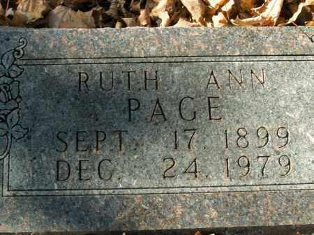 PAGE, RUTH ANN - Boone County, Arkansas | RUTH ANN PAGE - Arkansas Gravestone Photos