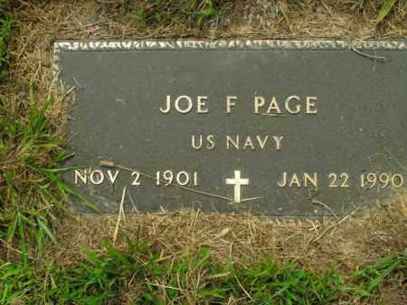 PAGE (VETERAN), JOE F. - Boone County, Arkansas   JOE F. PAGE (VETERAN) - Arkansas Gravestone Photos