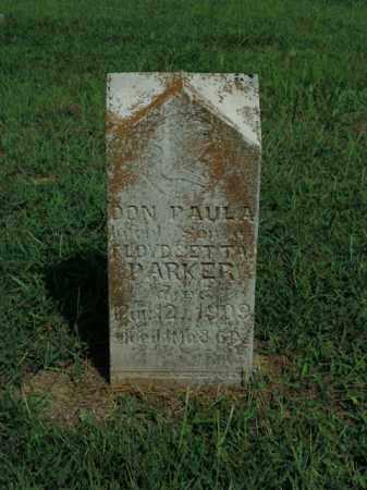 PARKER, DON PAULA - Boone County, Arkansas | DON PAULA PARKER - Arkansas Gravestone Photos