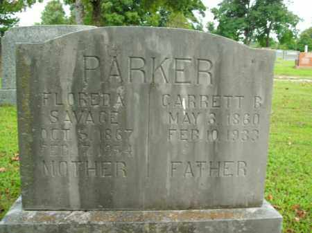 SAVAGE PARKER, FLOREDA - Boone County, Arkansas | FLOREDA SAVAGE PARKER - Arkansas Gravestone Photos