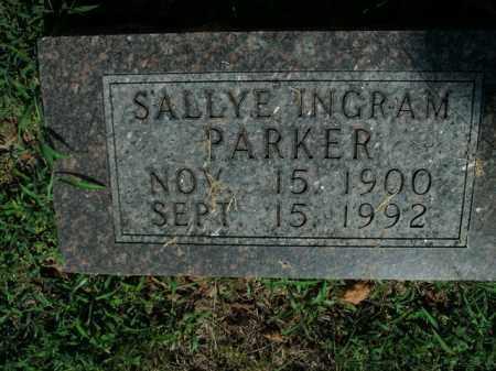 PARKER, SALLYE INGRAM - Boone County, Arkansas | SALLYE INGRAM PARKER - Arkansas Gravestone Photos