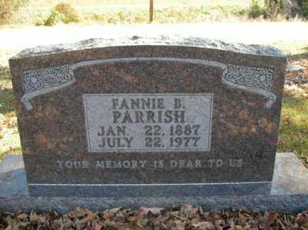 PARRISH, FANNIE B. - Boone County, Arkansas   FANNIE B. PARRISH - Arkansas Gravestone Photos