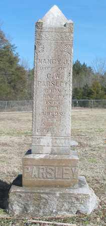 PARSLEY, NANCY J. - Boone County, Arkansas   NANCY J. PARSLEY - Arkansas Gravestone Photos