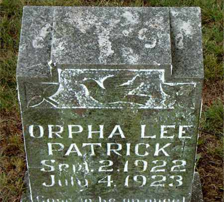 PATRICK, ORPHA LEE - Boone County, Arkansas | ORPHA LEE PATRICK - Arkansas Gravestone Photos