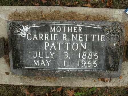 NETTIE PATTON, CARRIE R. - Boone County, Arkansas | CARRIE R. NETTIE PATTON - Arkansas Gravestone Photos