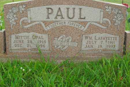PAUL, MITTIE OPAL - Boone County, Arkansas   MITTIE OPAL PAUL - Arkansas Gravestone Photos