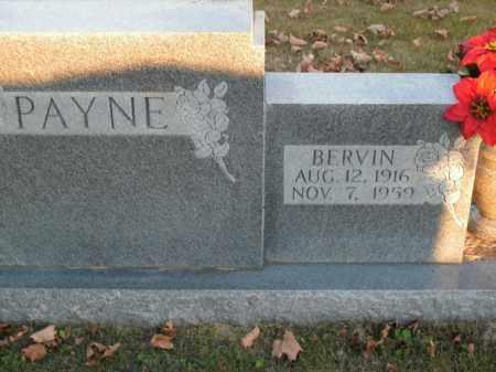 PAYNE, BERVIN - Boone County, Arkansas   BERVIN PAYNE - Arkansas Gravestone Photos