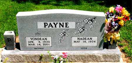 PAYNE, VONDEAN - Boone County, Arkansas | VONDEAN PAYNE - Arkansas Gravestone Photos