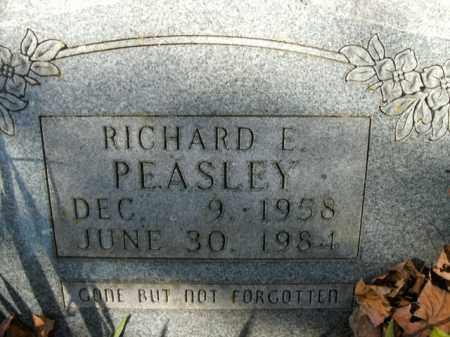 PEASLEY, RICHARD E. - Boone County, Arkansas | RICHARD E. PEASLEY - Arkansas Gravestone Photos