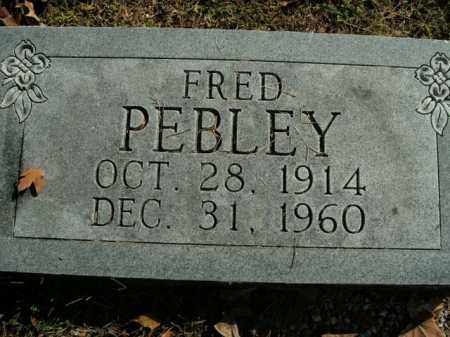 PEBLEY, FRED - Boone County, Arkansas | FRED PEBLEY - Arkansas Gravestone Photos