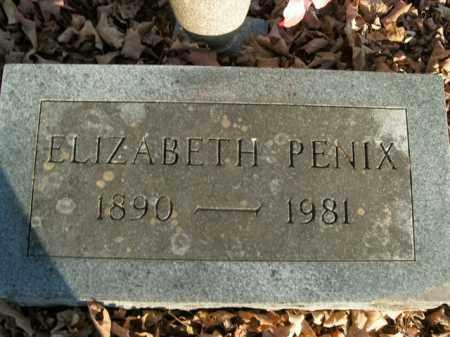 PENIX, ELIZABETH - Boone County, Arkansas | ELIZABETH PENIX - Arkansas Gravestone Photos