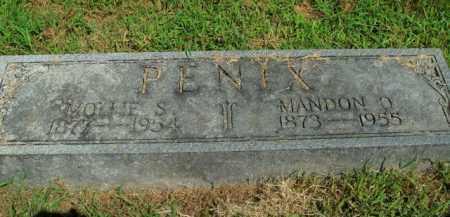 PENIX, MOLLIE S. - Boone County, Arkansas   MOLLIE S. PENIX - Arkansas Gravestone Photos