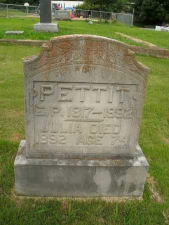 PETTIT, JULIA - Boone County, Arkansas | JULIA PETTIT - Arkansas Gravestone Photos
