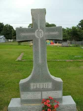 PETTIT, MAXINE CENTER - Boone County, Arkansas | MAXINE CENTER PETTIT - Arkansas Gravestone Photos