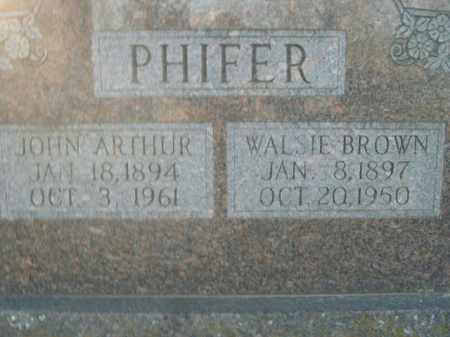 BROWN PHIFER, WALSIE - Boone County, Arkansas | WALSIE BROWN PHIFER - Arkansas Gravestone Photos