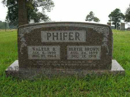 BROWN PHIFER, BERTIE - Boone County, Arkansas | BERTIE BROWN PHIFER - Arkansas Gravestone Photos