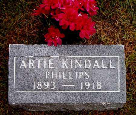 KINDALL PHILLIPS, ARTIE - Boone County, Arkansas | ARTIE KINDALL PHILLIPS - Arkansas Gravestone Photos