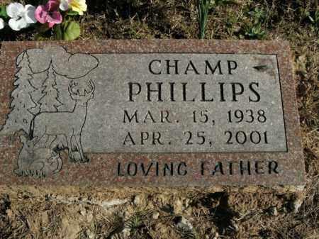 PHILLIPS, CHAMP - Boone County, Arkansas | CHAMP PHILLIPS - Arkansas Gravestone Photos