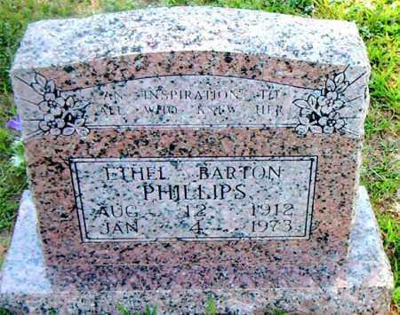 BARTON PHILLIPS, ETHEL - Boone County, Arkansas | ETHEL BARTON PHILLIPS - Arkansas Gravestone Photos