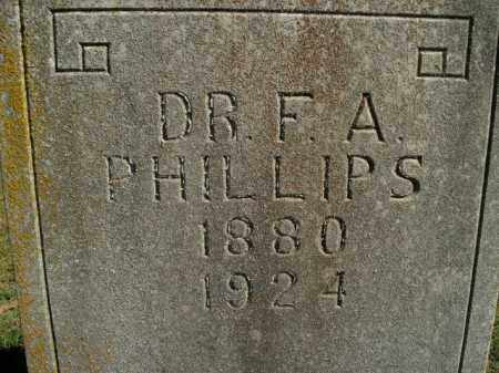 PHILLIPS, F.A. - Boone County, Arkansas | F.A. PHILLIPS - Arkansas Gravestone Photos