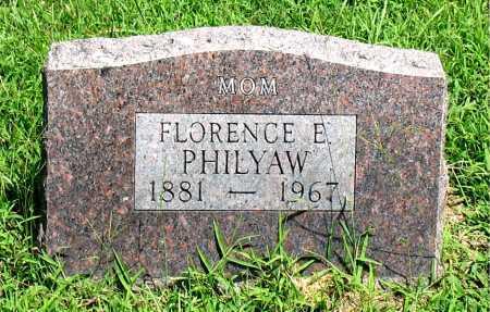 PHILYAW, FLORENCE E - Boone County, Arkansas | FLORENCE E PHILYAW - Arkansas Gravestone Photos
