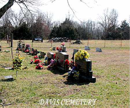 *DAVIS CEMETERY OVERVIEW,  - Boone County, Arkansas    *DAVIS CEMETERY OVERVIEW - Arkansas Gravestone Photos