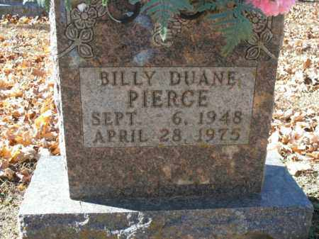 PIERCE, BILLY DUANE - Boone County, Arkansas | BILLY DUANE PIERCE - Arkansas Gravestone Photos