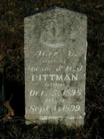PITTMAN, ALICE V. - Boone County, Arkansas | ALICE V. PITTMAN - Arkansas Gravestone Photos