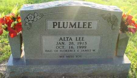 PLUMLEE, ALTA LEE - Boone County, Arkansas | ALTA LEE PLUMLEE - Arkansas Gravestone Photos