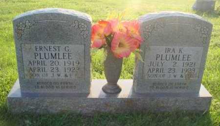 PLUMLEE, ERNEST G. - Boone County, Arkansas | ERNEST G. PLUMLEE - Arkansas Gravestone Photos