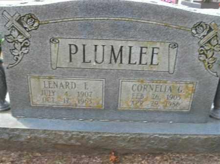 PLUMLEE, LENARD E. - Boone County, Arkansas   LENARD E. PLUMLEE - Arkansas Gravestone Photos