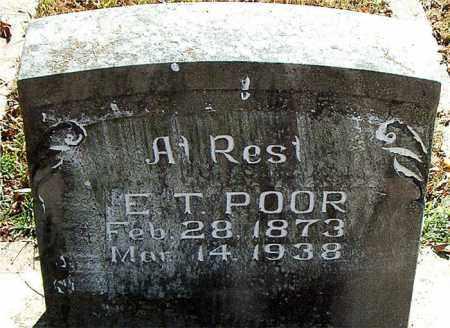 POOR, E. T. - Boone County, Arkansas | E. T. POOR - Arkansas Gravestone Photos