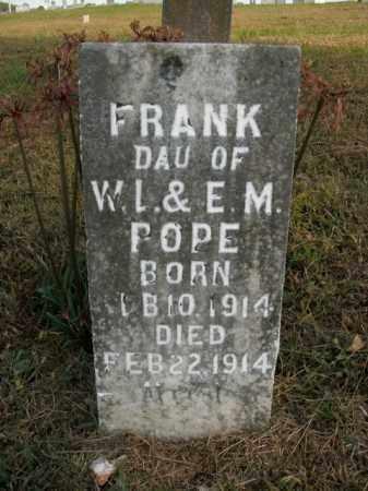 POPE, FRANK - Boone County, Arkansas | FRANK POPE - Arkansas Gravestone Photos