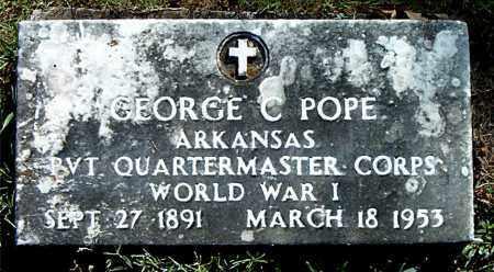 POPE  (VETERAN WWI), GEORGE  C. - Boone County, Arkansas | GEORGE  C. POPE  (VETERAN WWI) - Arkansas Gravestone Photos