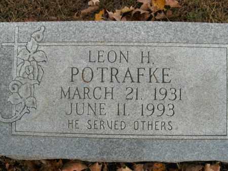 POTRAFKE, LEON H. - Boone County, Arkansas | LEON H. POTRAFKE - Arkansas Gravestone Photos